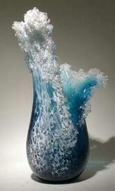 Glass Wave Vase