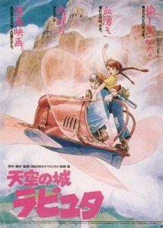 Castle in the sky, 1986 - Hayao Miyazaki. Recensione: http://nihonexpress.blogspot.it/2012/04/laputa-il-castello-nel-cielo.html