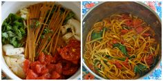 Ordinary Vegan's One Pot Tomato Basil Spinach Pasta......... this will be perfect for summer, with fresh produce...yum!