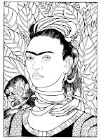 Frida Kahlo Coloring Page Elegant Frida Kahlo Coloring Pages at Getcolorings Coloring Book Art, Coloring Pages, Grant Wood American Gothic, Arte Latina, Kahlo Paintings, Frida Art, Picasso Art, Ecole Art, Great Paintings