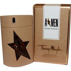 Angel Men Pure Wood Eau De Toilette Spray 3.4 oz by Thierry Mugler