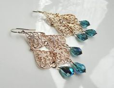 Image result for tear drop crystal earring
