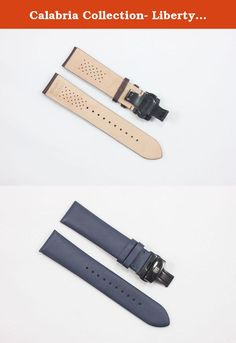 Calabria Collection- Liberty Blue handmade leather watch strap from GOAT SKIN. Glued and Folded with padding to dressy look comes with butterfly buckle. we carry both stainless and Black Buckles. Adapters are included (Please select adapter color of your choice).Special Quality lining material is used with holes to provide Ventilation . Thickness - 2.5 mm Size:- Each band is 125 mm x 75 mm. Fits 170-198 mm wrist measurement.