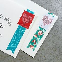 Envelopes with washi tape More