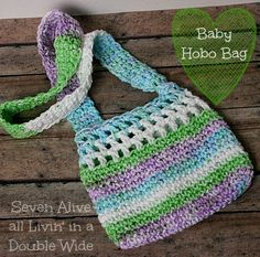 In making a bag/satchel for my son I really started something with the rest of my kiddos. So here is the latest and hopefully last installment of kids bags. This one is for my almost 3 year old baby girl. So I call it the Baby Hobo Bag. It's the perfect size for a small …