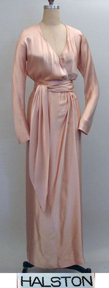 1970s Halston silk wrap dress  - Courtesy of pastperfectvintage.com