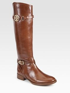 Tory Burch - Calista Leather Riding Boots WANT