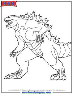 godzilla coloring pages - free large images | crafting | pinterest ... - Printable Godzilla Coloring Pages