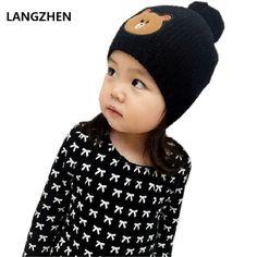 f17860f92b8 2017 LANGZHEN New Brand Langzhen Girls Boys Hats Parent-child Cap Kids  Winter Hat Bonnet Enfant For Children Baby Muts KF082  Affiliate