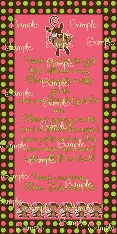 Check out TickledPinkTrinketsBoutique on Facebook for custom made thank you cards and many other great things!!