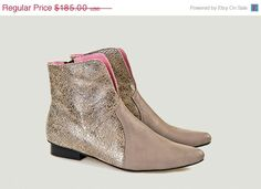 Christmas sale Women boot ankle boot pointed toe by LUCCAshoes