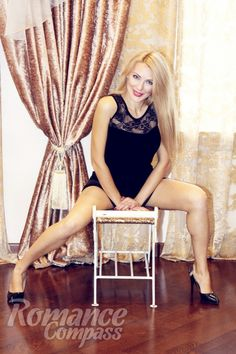Date Ukraine single girl Elena: green eyes, blonde hair, 37 years old|ID137555