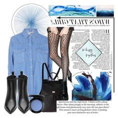 """""""wednesday blues. <3"""" by tatjana ❤ liked on Polyvore featuring Tisch New York, Topshop, Acne Studios, Dolce&Gabbana, Lip Service, H&M, MAC Cosmetics, Kate Spade, Marsh Scott and women's clothing"""
