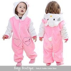 Cute Hello Kitty Warm Winter Fleece Baby Girl Bodysuit Jumpsuit Snowsuit in Baby, Clothes, Shoes & Accessories, Girls' Clothing (0-24 Months) | eBay