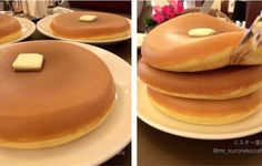To those who've seen this image of pancakes floating around Instagram, I found out they're from West Aoyama Garden in Tokyo, Japan! Made in a rice cooker.