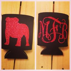 Georgia Bulldogs Football Gameday Koozie w/ by BOWSandBADGES, $10.00 - GO UGA!
