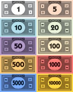 Monopoly Money Pack by monosatas on DeviantArt Monopoly Theme, Monopoly Cards, Monopoly Money, Make Your Own Monopoly, Make Your Own Game, Harry Potter Monopoly, Harry Potter Diy, Paper Games, Paper Toys