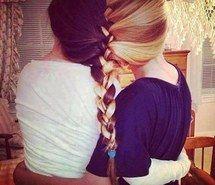 Inspiring image forever, love, girls, friends, blonde, us, brown, hair