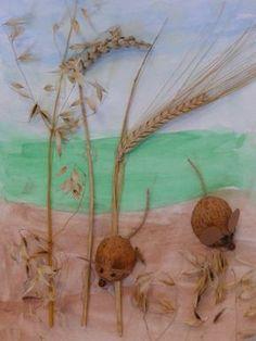 Stránky pro tvořivé - malé i velké - Fotoalbum - Léto - Myšky v obilí - Verča Kokešová, 4 roky Animal Crafts For Kids, Diy For Kids, Kids Crafts, Arts And Crafts, Paper Crafts, Autumn Crafts, Autumn Art, Nature Crafts, Summer Camp Crafts