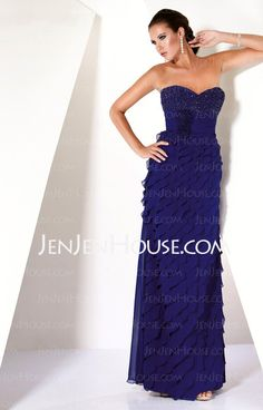 Mother of the Bride Dresses - $154.99 - Sheath Sweetheart Floor-Length Chiffon  Charmeuse Mother of the Bride Dresses With Ruffle  Beading (008005675) http://jenjenhouse.com/Sheath-Sweetheart-Floor-length-Chiffon--Charmeuse-Mother-Of-The-Bride-Dresses-With-Ruffle--Beading-008005675-g5675