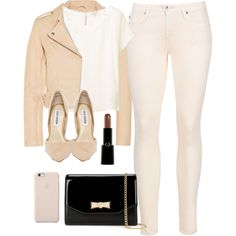 Nude Biker by bamaannie on Polyvore featuring polyvore, fashion, style, Talula, IRO, AG Adriano Goldschmied, Steve Madden, Ted Baker, Black Apple and Giorgio Armani