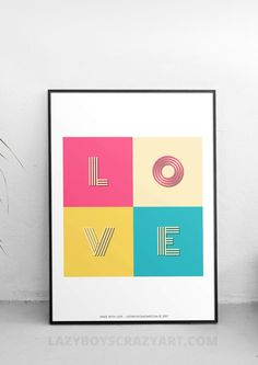Love print, bedroom decor, home decor, home wall art, love wall art, abstract art, printable, wedding gift, house warming gift.  LOVE - Love is all around us! I was just watching a programming on how in nature, love is all around us, hence I thought why not make a love print :)  Note : The frame is not included in the price. See the frames section below.  > COLOUR MATCHING SERVICE < ▂▂▂▂▂▂▂▂▂▂▂▂▂▂▂▂  I love colours! and so do you!  I can colour match for an additional cost, send me a pi...