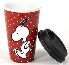 Snoopy - Taza para llevar, color rojo: Amazon.es: Juguetes y juegos
