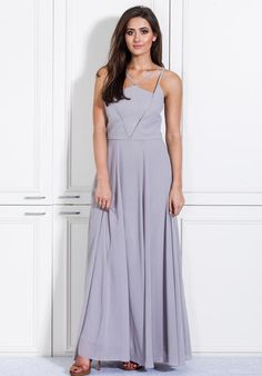 White Runway Sweet Dreams Maxi Bridesmaid Dress photo