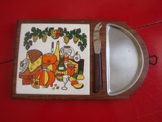 Vintage Cheese Tray Cutting Board Set by PlayfullyVintage on Etsy