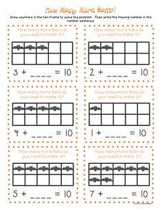 math worksheet : freebie math activity sheet for k 1st grade students supports  : Bat Math Worksheets
