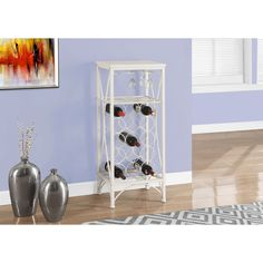 A must have in any dining room or kitchen, the elegant curved design wine bottle and glass rack draws the eye and blends well with any decor all while keeping your wine collection safe. It is constructed well and can hold up to 15 wine bottles.