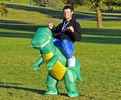 Inflatable Dinosaur Costume | DudeIWantThat.com