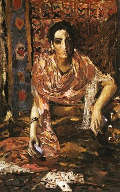 Mikhail Vrubel (Russian painter, 1856-1910) The Fortune Teller