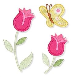 Spring Tulips Applique - 3 Sizes! | Spring | Machine Embroidery Designs | SWAKembroidery.com Applique for Kids