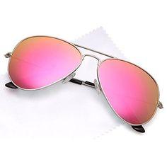 f2cd86383a Premium Classic Aviator UV400 Sunglasses w Flash Mirror Lenses Choose Your  Lens Color