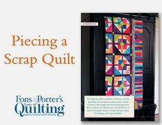 How to Piece a Scrap Quilt