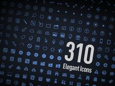 Elegant #Icons - #FREE by Kenny Sing