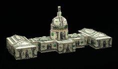 us capitol building | 12 Impressive Dollar Bill Origami Creations [Photos]