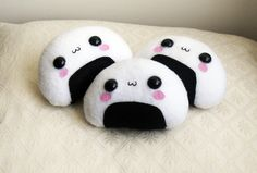 KAWAII ONIGIRI PLUSH - Super cute Kawaii Onigiri Plush Toy. via Etsy.