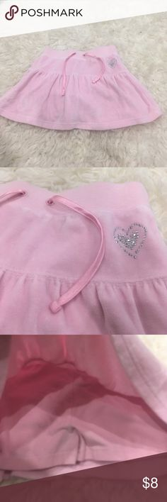 Pink velour  skort with built in shirts Soft pink/ ties At waist, size 6 Bottoms Shorts