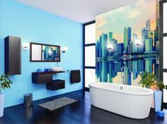 Łazienka z widokiem na morze Bathroom, Inspiration, Design, Home Decor, Interiors, Pictures, Photo Wallpaper, Wallpapers, Full Bath