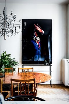 design attractor: Wonderful eclectic apartment in Stockholm