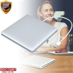 Apple MacBook Air Pro External USB Slot DVD CD Driver CD-RW DVD-RW Burner Silver #VersionTech