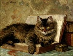 The wise cat  | Henriette Ronner-Knip.