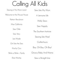 Announcing: Calling All Kids Series | Alida Makes