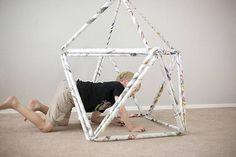 新聞紙を使って遊びながら学べる!ビルディングブロックをDIY - DIYer(s)