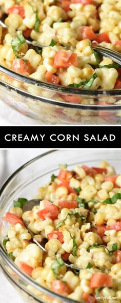 This Creamy Corn Salad embraces the summer season with fresh grilled corn, bell pepper, basil, and a creamy Italian dressing. Great for a light lunch or BBQ!