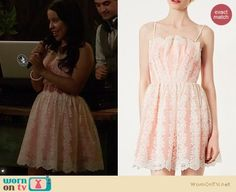 Mariana's white and pink lace dress at the wedding on The Fosters.  Outfit Details: https://wornontv.net/18140/ #TheFosters