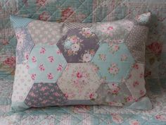 Patchwork Tilda pillow cover in springcolours by Cornsant on Etsy, €27.50