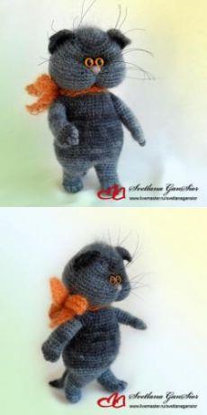 """Мастер-класс """"Котёнок Кузя"""" - МК по вязанию игрушек - Форум почитателей амигуруми (вязаной игрушки)"""